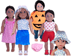 8 Free  American Girl Doll Clothes Patterns