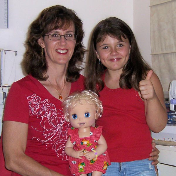 Alyssa and Rosanne with Baby Alive