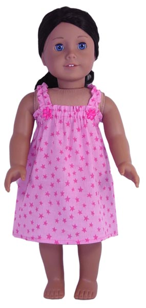 18 Inch American Girl Nightie & Underpants Doll Clothes Patterns