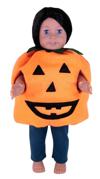 18 Inch American Girl Halloween Pumpkin Doll Clothes Pattern