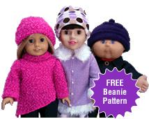 Free Doll Clothes Beanie Pattern