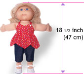 18.5 Inch Cabbage Patch Kids Doll Clothes Patterns Size