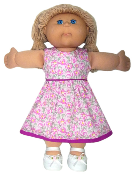 18 1/2 Inch Cabbage Patch Kids Summer Dress Doll Clothes Pattern