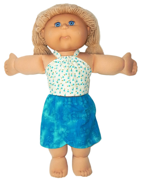 18.5 Inch Cabbage Patch Kids Halter Top & Sarong Doll Clothes Pattern