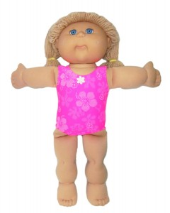 18 1/2 Inch Cabbage Patch Kids One Piece Swim Suit Doll Clothes Patterns