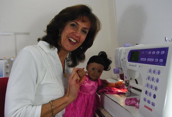 Rosie sewing