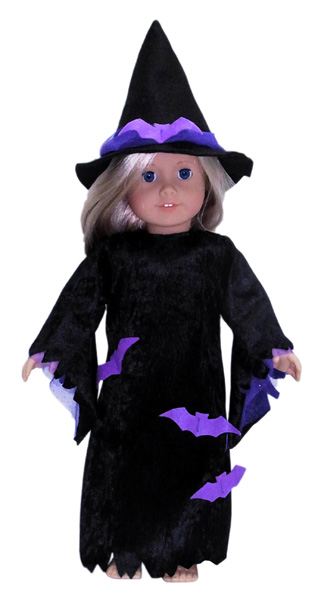 18 Inch American Girl Doll Clothes Patterns Witches Costume Halloween