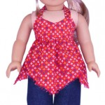 18 Inch American Girl Doll Clothes Patterns Handkerchief Top and Capri Pants