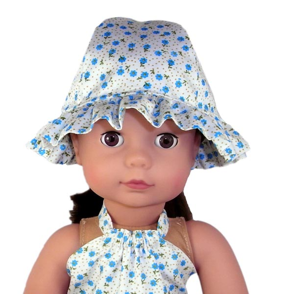 18 Inch American Girl Doll Clothes Patterns Frilled Hat