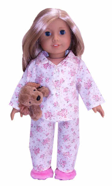 american girl winter pyjamas rosies doll clothes patterns