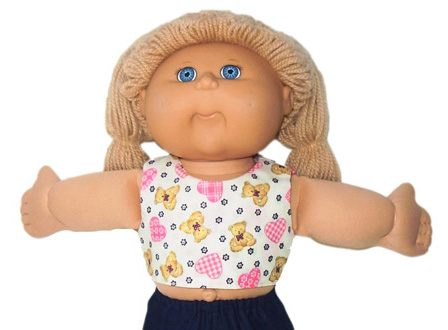 Cabbage Patch Kids Doll Clothes Patterns Crop Top