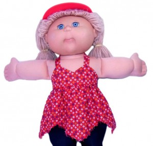 Cabbage Patch Kids Doll Clothes Patterns Handkerchief Top