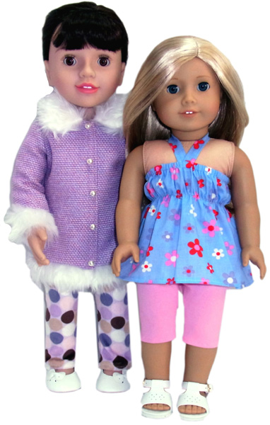 18 Inch American Girl Doll Clothes Patterns Tights Summer & Winter