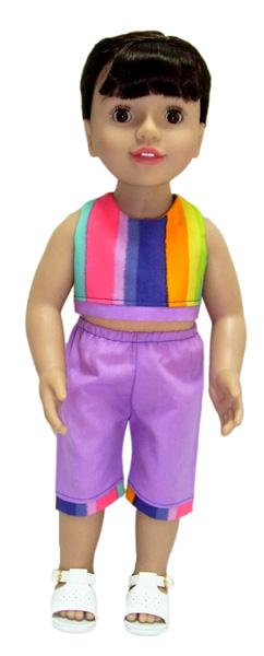 18 Inch Australian Girl Doll Clothes Patterns Crop Top & Capri Pants