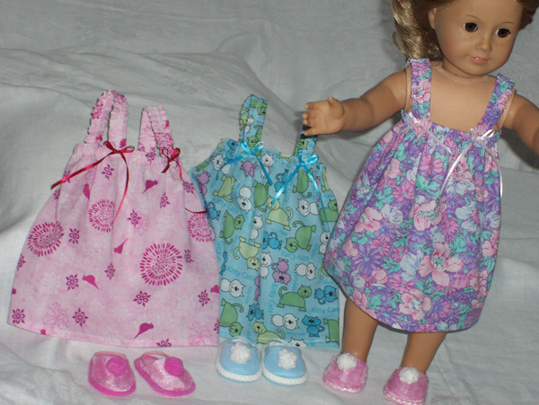 American Girl Doll Clothes Patterns by Judy Summer Nightie