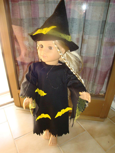 American girl doll clothes patterns witches costume by Sharon