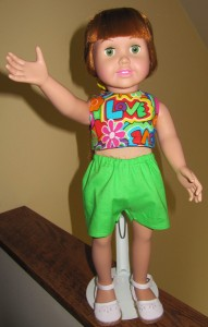 Claudia Doll Clothes Patterns Halter Top and Sports Shorts