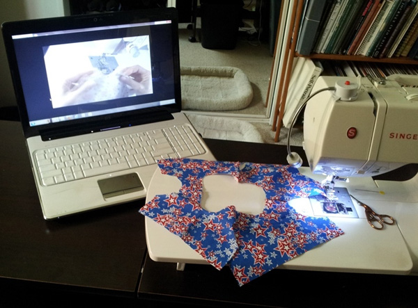 Rosie's How to Makes Doll Clothes DVD Tutorials playback on Laptop computer