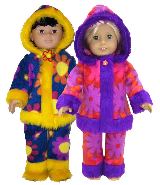18 Inch American Girl Doll Winter stuff Clothes Patterns Funky Furs