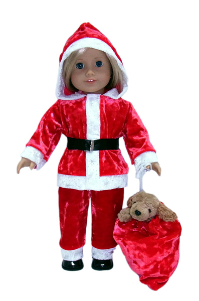 18 Inch American Girl Doll Clothes Patterns Santa Suit