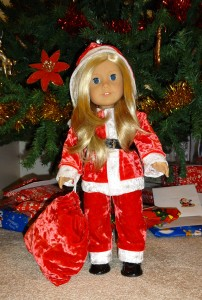 American Girl Santa Suit Doll Clothes Pattern with Christmas Tree