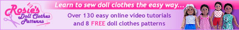 Rosies Doll Clothes Patterns banner 468x60