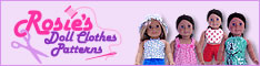 Rosies Doll Clothes Patterns banner version two 234x60