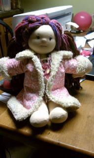 Doll Clothes Patterns Pink Fur Trimmed Jacket by Kris