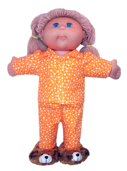 18 1/2 Inch Cabbage Patch Doll Clothes Patterns Winter Pyjamas