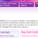 Rosies Doll Clothes Patterns Log In Button