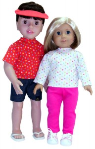 18 Inch and American Girl Doll Clothes Patterns Tshirt