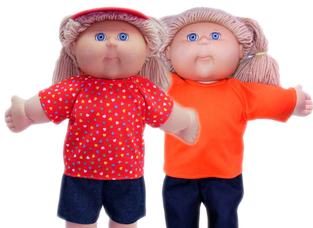 18.5 Cabbage Patch Kids Doll Clothes Patterns Tshirt 2