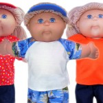 Cabbage Patch Kids Doll Clothes Patterns Tshirt multiple colors