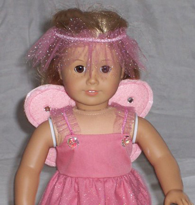 American Girl Doll Clothes Patterns Fairy Costume Light Pink Judy
