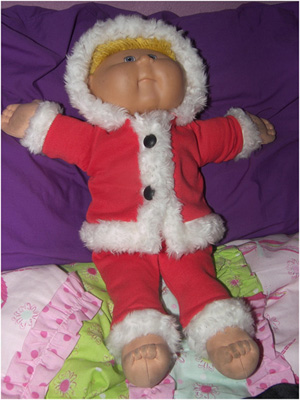 Cabbage Patch Kid Doll Clothes Patterns Santa Suit Funky Fur Noela