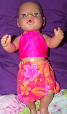 Doll Clothes Patterns Halter Top and Sarong Noela