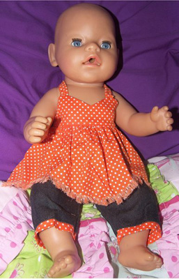 Doll Clothes Patterns Handerchief Top Noela
