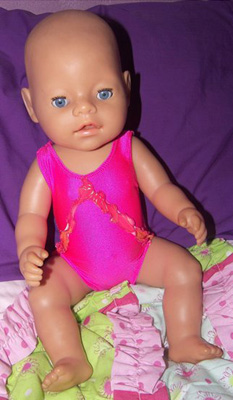 Doll Clothes Patterns One Piece Swim Suit Noela