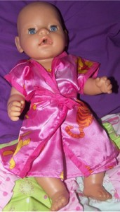 Doll Clothes Patterns Summer Dressing Gown Noela