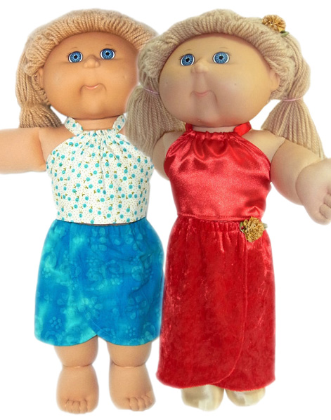 Cabbage Patch Kids Doll Clothes Patterns Short and Long Sarong