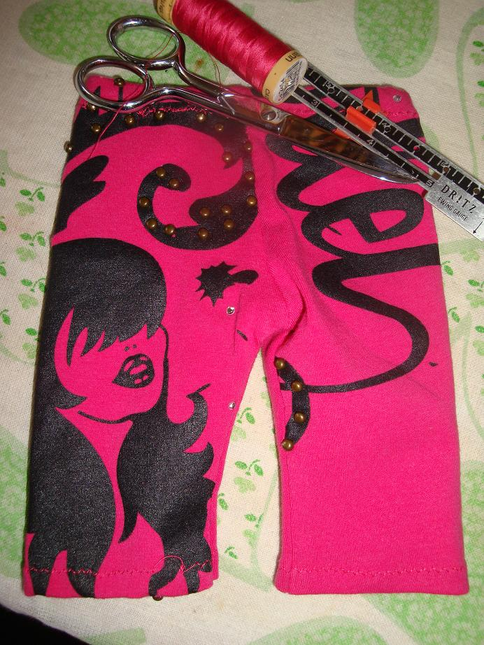 Sharon's Tights from a friends shirt doll clothes