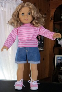 Ann's American Girl Long sleeve t-shirt doll clothes patterns