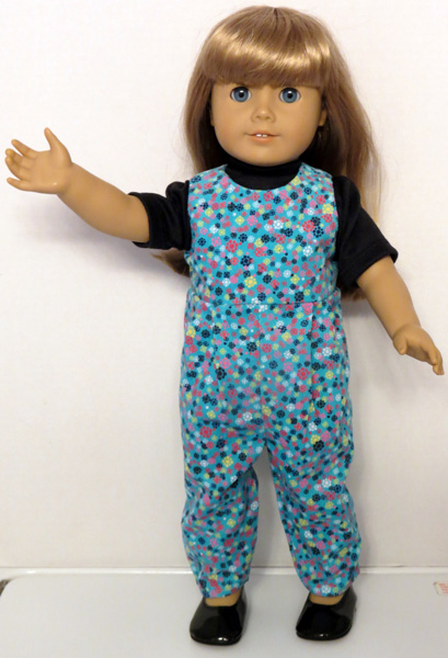 Ann's used my American Girl crop top doll clothes patterns to make this jumper