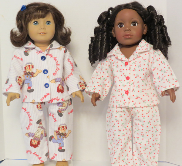 Ann's American Girl Winter PJs doll clothes