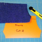 Using plastic sheets for pattern making for doll clothes | Rosies