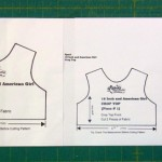 Resizing crop top doll clothes pattern