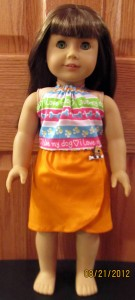 doll clothes patterns halter top and sarong by Crystal