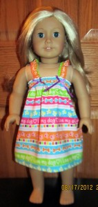 doll clothes patterns summer nightie by Crystal