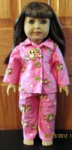 doll clothes pattterns winter pjs by Crystal