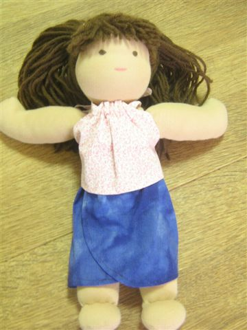 Andrea Halter Top and Sarong Doll Clothes Patterns